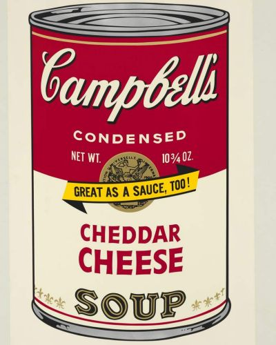 Andy Warhol, 'Campbell's Soup II - Cheddar Cheese' 1969, collection: National Gallery of Australia, Canberra Orde ...