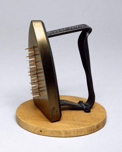 Man Ray, 'Cadeau (Gift)' 1921 reconstructed 1970, collection: National Gallery of Australia, Canberra. Purchased 1992, © ...