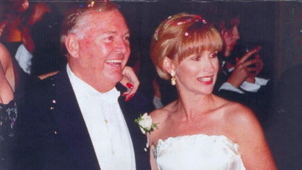 Alan Bond and Diana Bliss on their wedding day in 1995.
