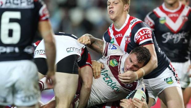 Rough and ready: Anthony Watmough took no ill effects from the Roosters clash.