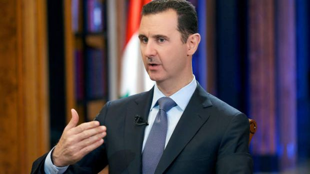 Pledge: Syrian President Bashar al-Assad during an interview with Fox News in the capital Damascus.