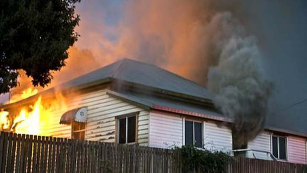 A child died in this house fire in North Toowoomba.
