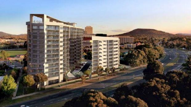 Building of the Aalto apartments in Irving street Phillip ACT has halted due to the building company going to voluntary ...