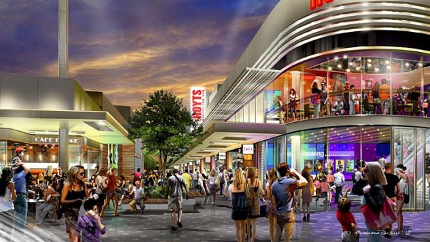 Overhaul: An artist's impression of Stockland's Wetherill Park shopping centre revamp of the cinemas and eateries.