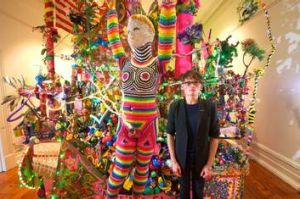 Paul Yore with part of the installation that led to his being charged.
