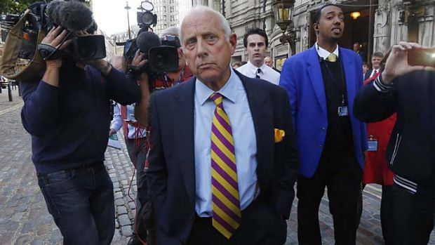 Godfrey Bloom after speaking at the UK Independence Party (UKIP) annual conference.