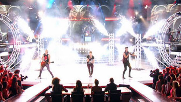 JTR turn the pyro up to 11 on <i>The X Factor</i>