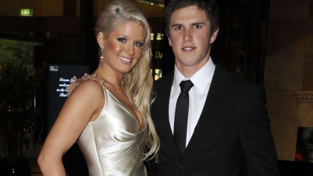 Melbourne woman Sarah Williamson, pictured with Carlton skipper and  then-boyfriend Marc Murphy at the 2008 Brownlow ...