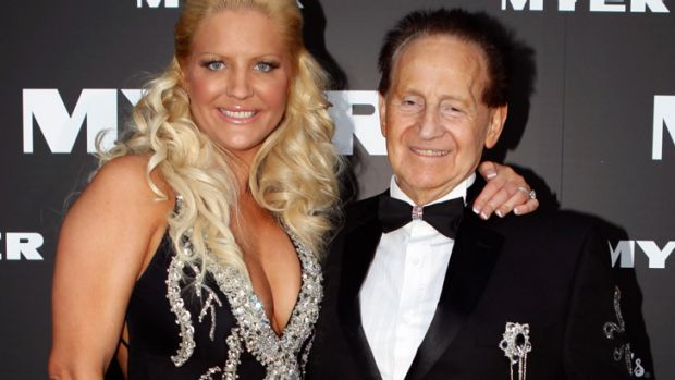Geoffrey Edelsten with wife Brynne.