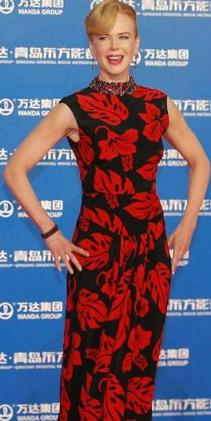 Glimpse into the future? Nicole Kidman in Quingdao.