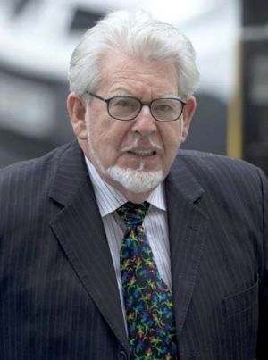 Court date: Rolf Harris arrives at Westminster Magistrate's Court in London.