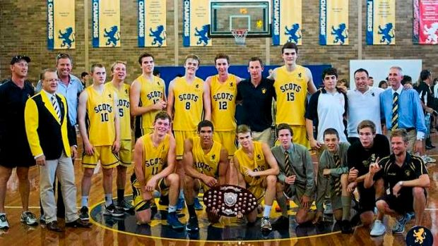 Kings of the court: The Scots College's premiership-winning basketball team this year.