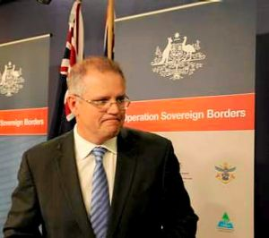 """""""We are not getting into the tactical discussion of things that happen at sea"""": Immigration Minister Scott Morrison."""