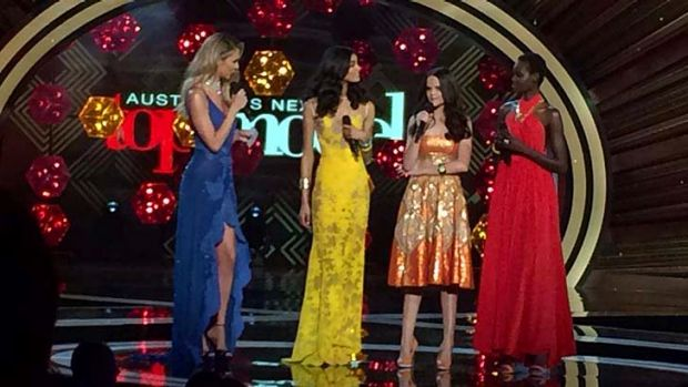 Bit too shiny ... <i>Australia's Next Top Model</i> live finale.