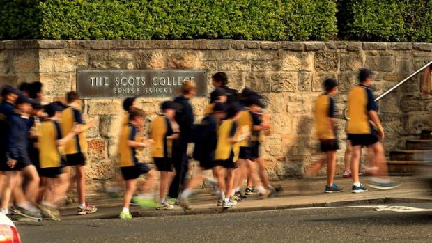 """The Scots College in Bellevue Hill, """"in the judgement of five of its rivals""""."""