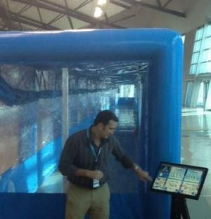 """Sports science: A """"hypoxic simulated altitude-training environment"""", located in the Scots gym."""