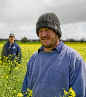 "(From left) Brad and Greg Morton: ""There's all the great characteristics of being an Aussie farmer in rural Australia ..."