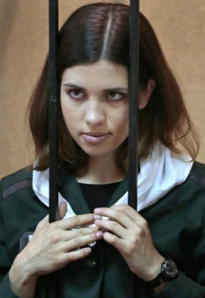 Moved on: Pussy Riot member Nadezhda Tolokonnikova has been shifted to an isolation cell.