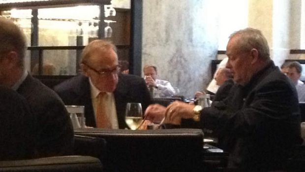 Lunch date: Senator Bob Carr and News Corp editor Col Allan.