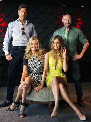 ANTM judges: (from left) Didier Cohen, Charlotte Dawson, Jennifer Hawkins and Alex Perry.