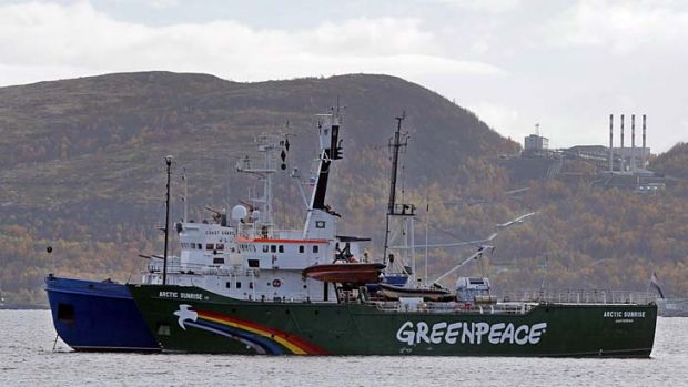 Greenpeace ship 'Arctic Sunrise'.
