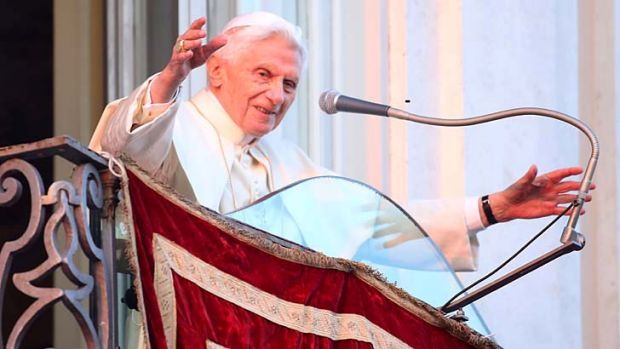 Pope Benedict XVI: Has broken his self-imposed silence.