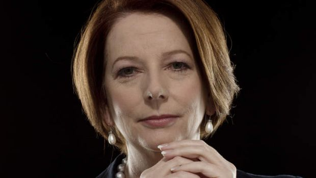 Portrait of Julia Gillard when she was Prime Minister of Australia.