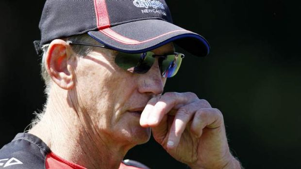 Nothing settled: Wayne Bennett was his usual elusive self when he fronted the media.