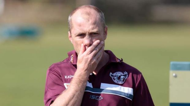 Fighting words: Manly coach Geoff Toovey.
