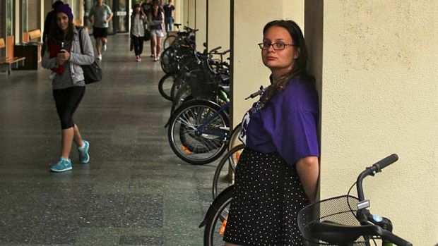 Fee 'essential': Monash University's Clayton student union president Freya Logan.