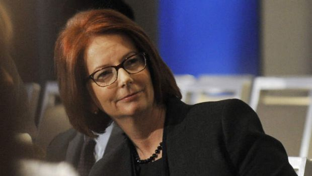 Former prime minister Julia Gillard at Clinton Global Initiative in New York City.
