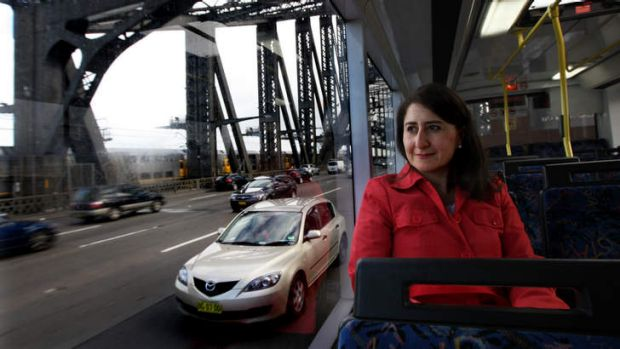 Tap off or it'll cost you: Transport Minister Gladys Berejiklian.