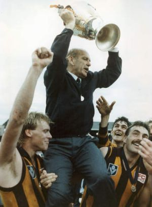 Allan Jeans coached Hawthorn to the 1989 Premiership. He was named coach of the ACT and Southern NSW AFL Team of the Century.