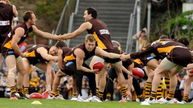 Hawthorn's final training day at Waverley Park before the grand final.
