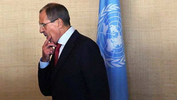 """Russian Foreign Minister Sergei Lavrov said an """"understanding"""" had been hammered out."""