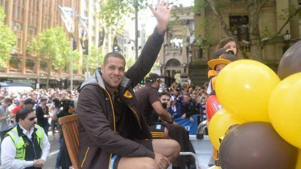 Franklin at the AFL grand final parade.