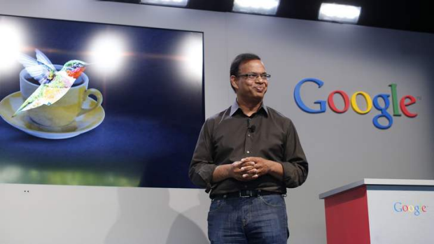 Searching for answers: Amit Singhal, senior vice president of search at Google, introduces the new 'Hummingbird' search ...
