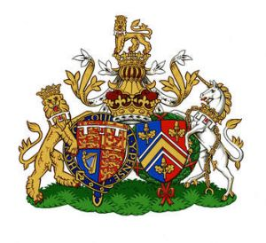 Coat of Arms: The new Conjugal Coat of Arms for Prince William, Duke of Cambridge, his wife Catherine, Duchess of ...