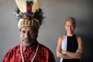 Benny Wenda of the Free West Papua advocacy group with human rights advocate/lawyer Jennifer Robbinson.