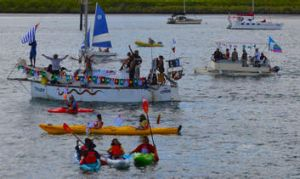 The Freedom Flotilla to West Papua that sailed earlier this year. A crowd of 120 including local Indigenous peoples, ...