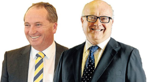 Barnaby Joyce and George Brandis.