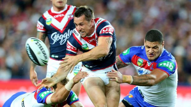 Taylor made:  'Jason Taylor has helped my game a lot, especially in attack,' says Mitchell Pearce.