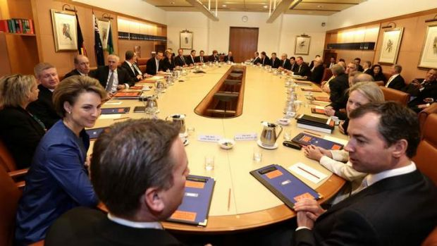 The first Abbott ministry meets last month.