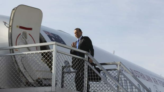 Prime Minister Tony Abbott board a plane bound for Indonesia where asylum seekers will be top of the agenda.