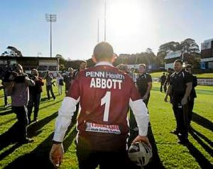 Number one fan: Tony Abbott at the oval in 2010.