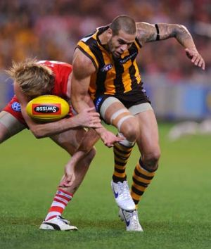 Lance Franklin and Lewis Roberts-Thompson.