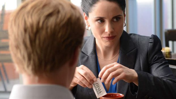 Lydia Rodarte-Quayle (Laura Fraser), right, using ricin-laced artificial sweetener in her camomile tea during the series ...