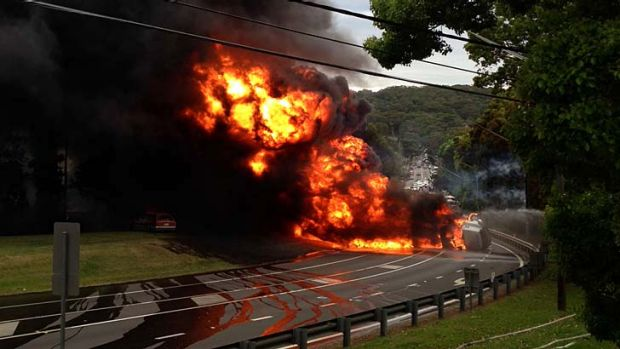The tanker crash at Mona Vale killed two people.