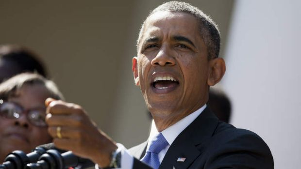 "President Barack Obama has called the roll out of the Affordable Care Act an ""historic day"" as he speaks in the Rose ..."