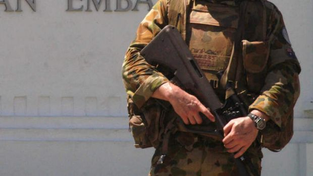 Australian Protective Service officers will be taken off guard duty at a number of bases around Australia.